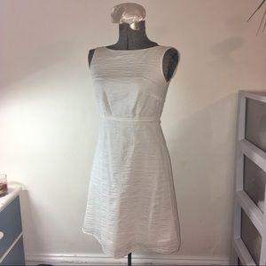 J. Crew white cotton piqué dress